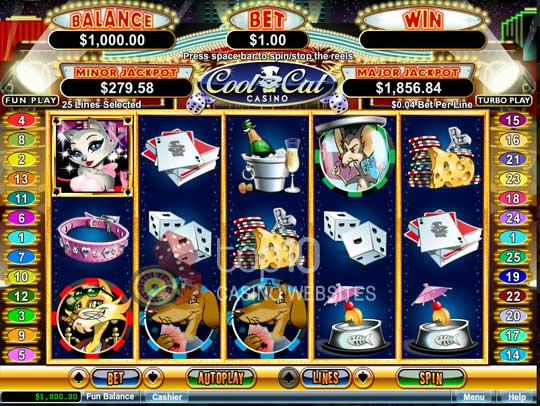 list of names of slot machines at casinos
