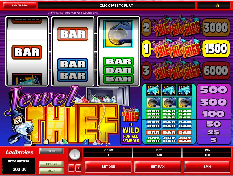 Jewel Thief Video Slot