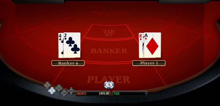 Baccarat Multislot Video Slot