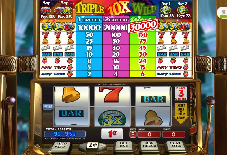 Triple 10x Wild Video Slot