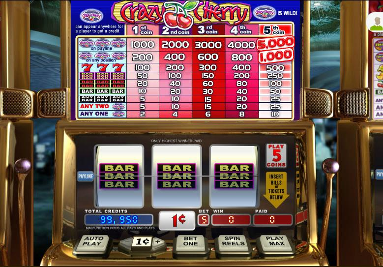 Triple Wild Cherry Video Slot