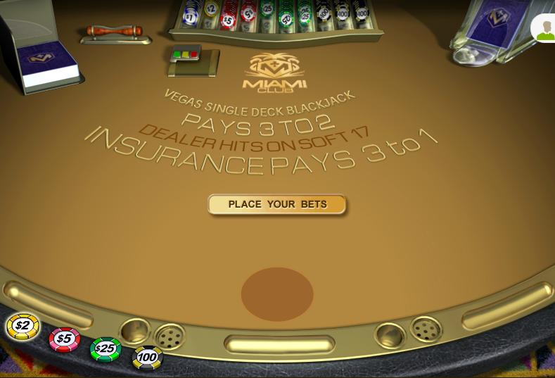 Vegas Single Deck Video Slot