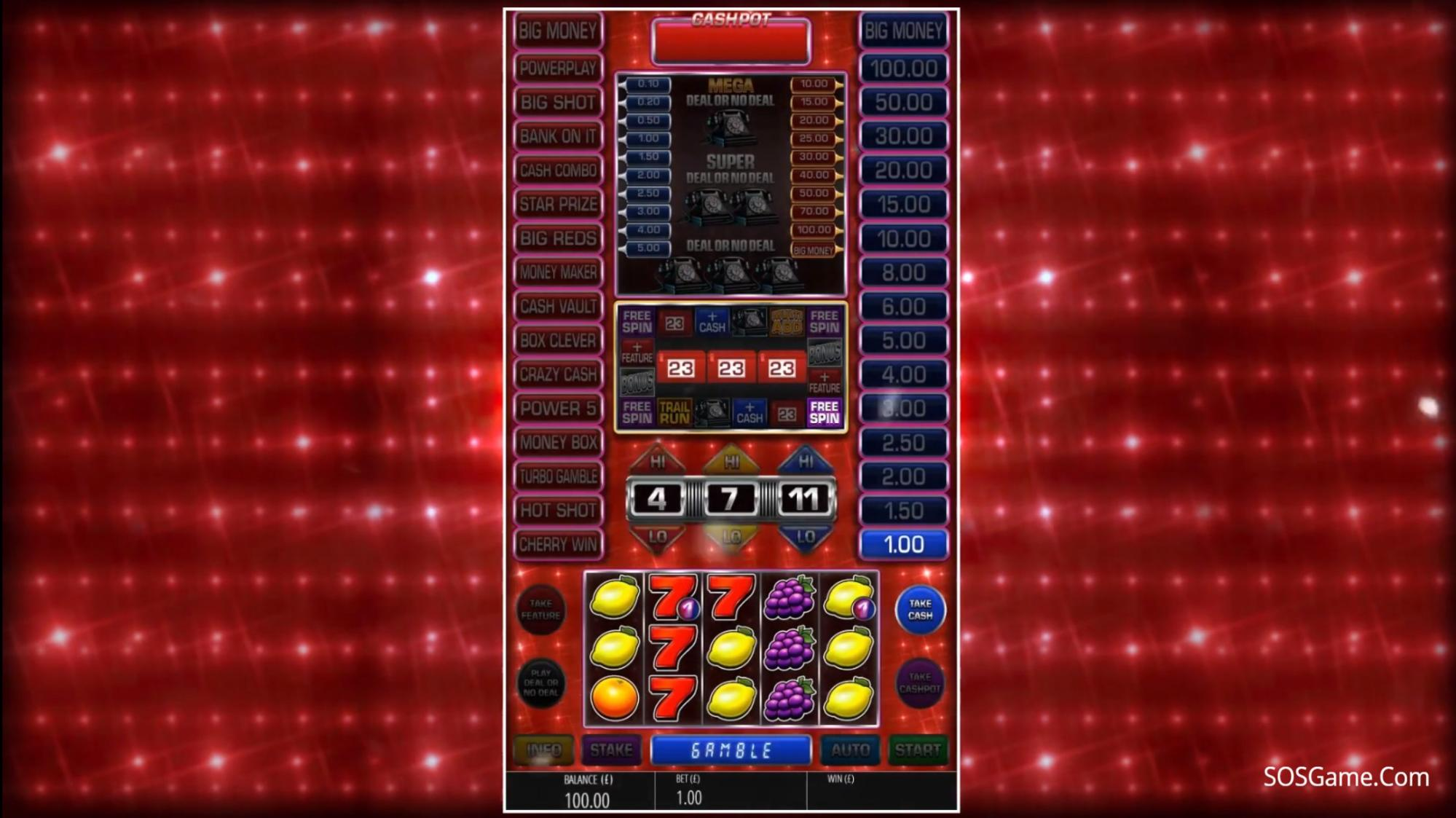 Deal or No Deal: Go All the Way Video Slot