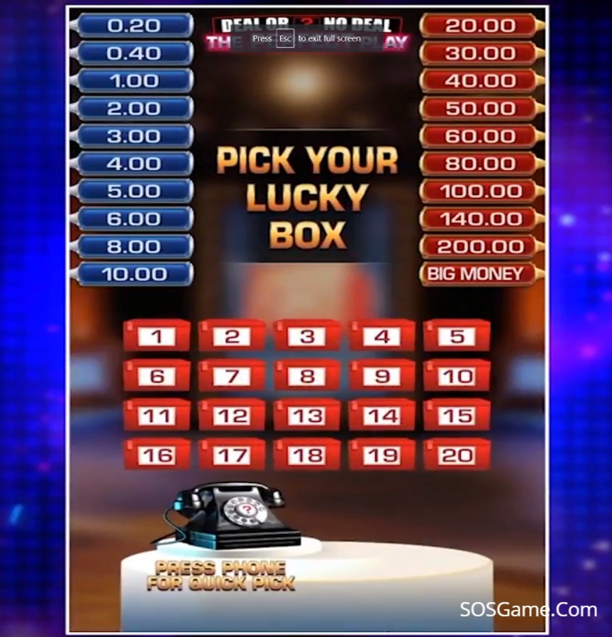 Deal or No Deal: The Perfect Play Video Slot