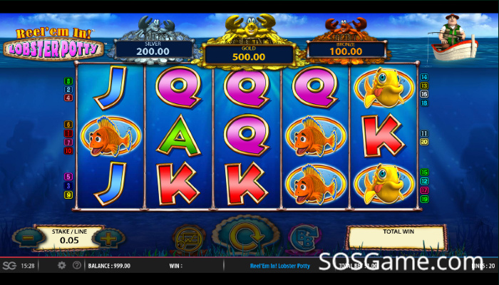 Reel 'em In Lobster Potty Video Slot