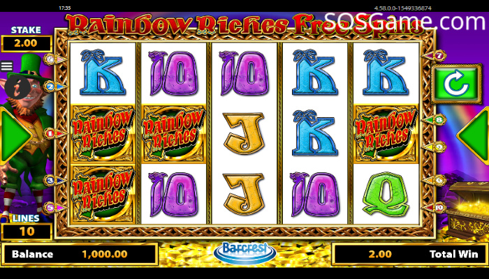 Rainbow Riches Free Spins Video Slot