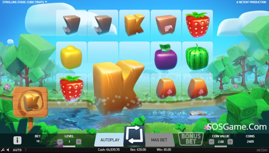 Strolling Staxx Cubic Fruits Video Slot