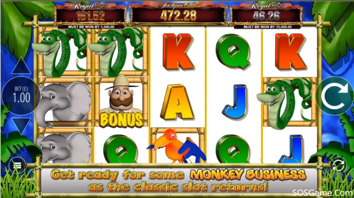 Monkey Business Deluxe Video Slot